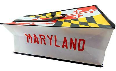 Maryland State Flag Tote Bag Nylon Travel Shopping Carrier with Handles