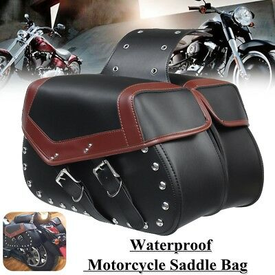 Black Motorcycle Saddle Bags Side Pouch Case For Harley Sportster XL 883 1200 US