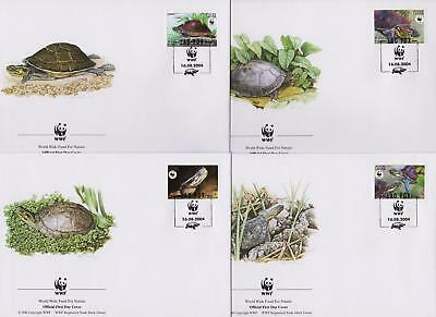 Laos 2004 WWF - Amboina Box Turtle - 4 First Day Covers FDC - (274)