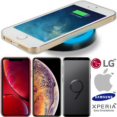 QI Fast Wireless Charger Charging Pad Mat Metal For Apple iPhone X 10 8 Plus UK