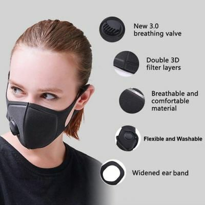1pcs New Washable Valved Dust Mask Respirator Reusable n Comfortable Wear