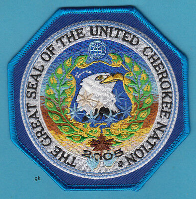 The Great Seal Of The United Cherokee Nation Tribal Eagle Patch  2005