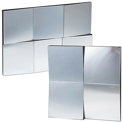 Multi Faceted Wall Mountable Hanging Mirror Rectangle Square Bedroom Hallway New