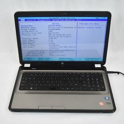 HP PAVILION G7-1328DX Notebook Laptop A6-3420M 1 5GHz 4 0GB 320GB DVDRW No  OS