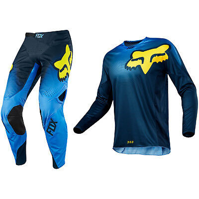 Fox Racing 360 Motocross Mx Kit Pants Jersey - Viza Blue