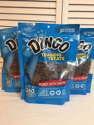 Dingo Training Treats Real Beef & Chicken For All Dogs. Three 360 Count Bags3