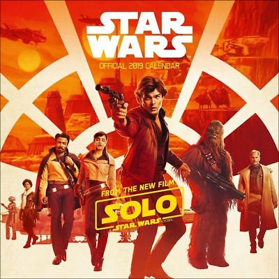 Star Wars: Hans Solo Official 2019 Wall Calendar Square New & Sealed