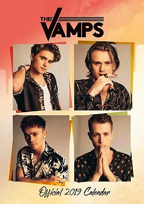 The Vamps Official 2019 Wall Calendar A3 New & Sealed