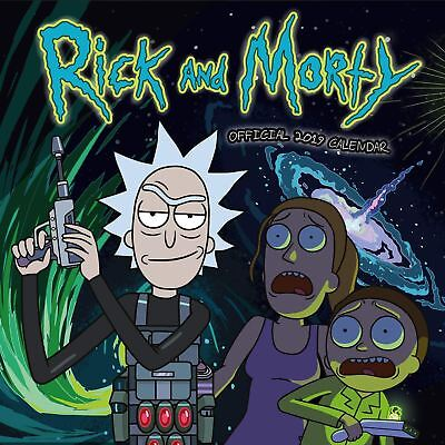 Rick and Morty Official 2019 Wall Calendar Square New & Sealed