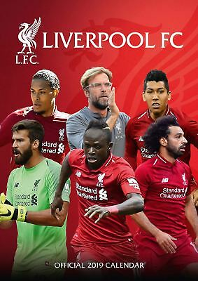 Liverpool FC Official 2019 Wall Calendar A3 New & Sealed