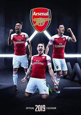 Arsenal FC Official 2019 Wall Calendar A3 New & Sealed