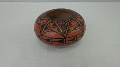 Authentic Jemez Native American Pottery Bowl signed Erna C. Pueblo N.M