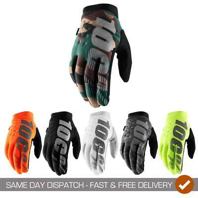 2019 100% Adults Brisker Cold Weather Motocross MX Mountain Bike Riding Gloves