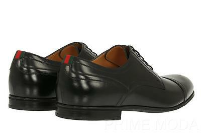 1dd98e55f New Gucci Current Black Leather Web Lace-Up Oxfords Casual Dress Shoes  7.5/us