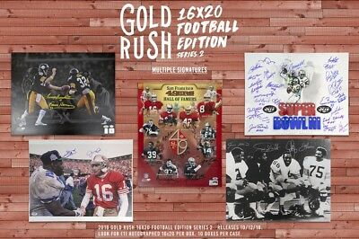 2018 Gold Rush Football Autographed 16x20 Edition Series 2 10-Box Case