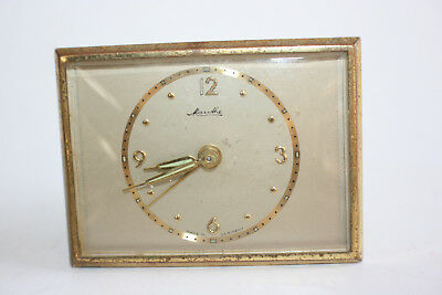 Vintage Brass Mauthel Alarm Clock - Made in Germany - Working