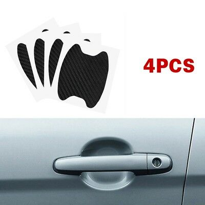 4pcs/Set Black Invisible Car Door Handle Films Protective Scratches Protector