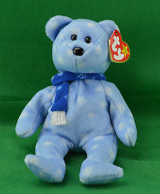 1999 Holiday Teddy Bear TY Beanie Baby Christmas MWMT Birthday December 25   4257 4e31dcf813db