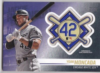 YOAN MONCADA 2018 TOPPS Update JACKIE ROBINSON COMM. PATCH Blaster White Sox