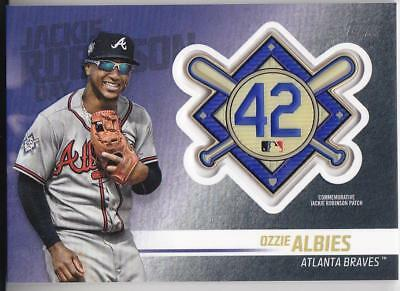 OZZIE ALBIES 2018 TOPPS Update JACKIE ROBINSON COMM. PATCH Blaster Braves