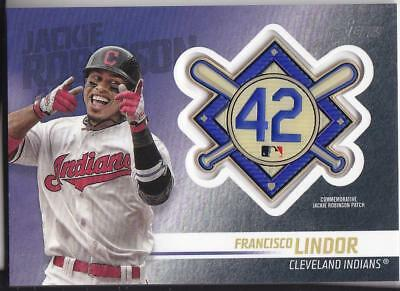 FRANCISCO LINDOR 2018 TOPPS Update JACKIE ROBINSON COMM. PATCH Blaster Indians