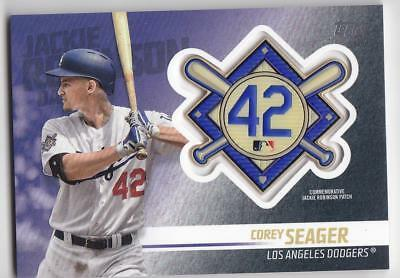 COREY SEAGER 2018 TOPPS Update JACKIE ROBINSON COMM. PATCH Blaster Dodgers