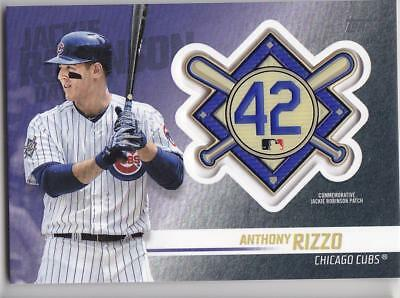 ANTHONY RIZZO 2018 TOPPS Update JACKIE ROBINSON COMM. PATCH Blaster Cubs