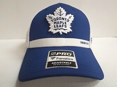 efcd02469a667 Toronto Maple Leafs Cap 2018 Authentic Pro Rinkside Trucker Adjustable Mesh  Hat