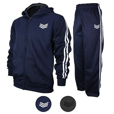 f8ce539bbb0c Range Men s Athletic Running Jogging Gym Zip Casual Hooded Sweat Track Suit  Set