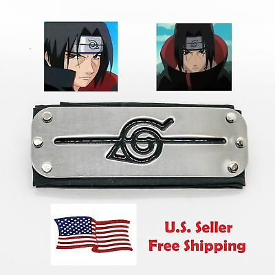 Naruto NEW Uchiha Itachi Black Leaf Village Konoha Ninja Headband Cosplay Anime