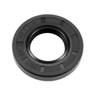 Oil Seal, TC 25mm x 47mm x 8mm, Nitrile Rubber Cover Double Lip