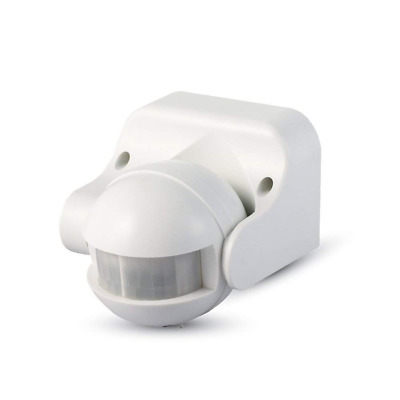 V-TAC INFRARED MOTION SENSOR WHITE/BLACK BODY, NA, Non-Dimmable, 180 Beam Angle