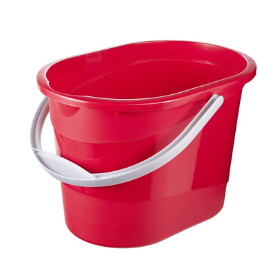 Keeeper Oval Cleaning Bucket, Lava Red