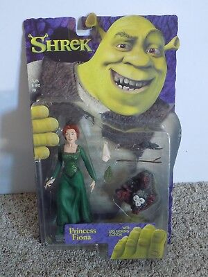 Shrek Princess Fiona with Leg Kicking Action New in Box 2001