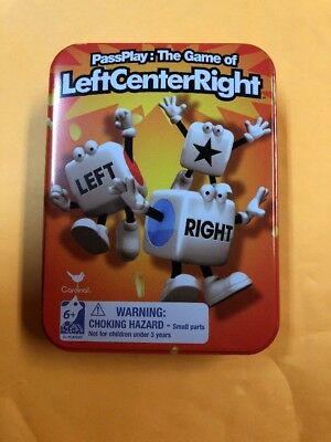 Left Center Right Dice Game Inside Game Travel Tin