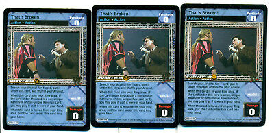 VOLLEY THIS * X3 Armageddon Playset WWE Raw Deal CCG 3X