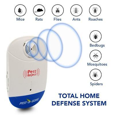Ultrasonic Pest Repeller - Sonic Mouse And Mosquito Repellent Natural Rodent Bug
