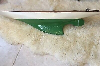 """Antique Vintage Wooden Pond Yacht Boat Sloop Ship Sailboat 49"""" Early 1900s"""