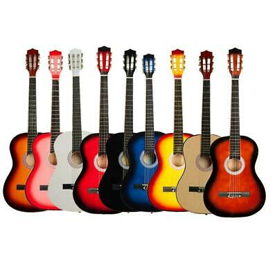 New 38 Inch 9 Colors Plywood Classical 6 Strings Acoustic Guitar for Music Lover