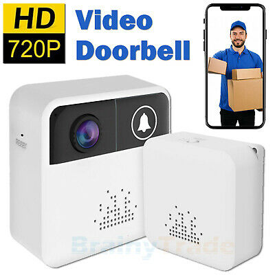 Smart Video Doorbell Wireless 720P WiFi Home Security Camera Ring & Indoor Chime