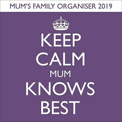 Keep Calm & Carry On Mum Knows Best Familia Planificador Oficial 2019