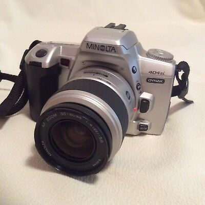 MINOLTA DYNAX 404Si WITH 35-80mm LENS AND STRAP