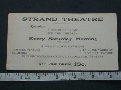 Rare Strand Theater ink blotter Mickey Mouse Western Comedy movie Photo