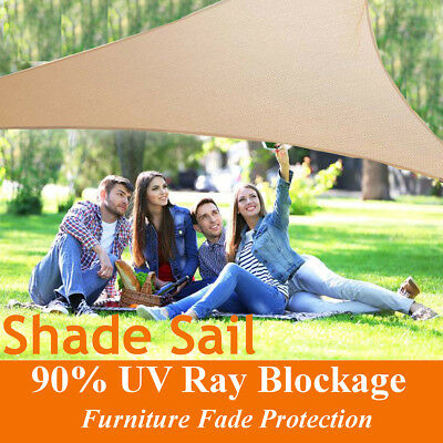 Sun Shade Sail Triangle / Square Outdoor Patio Canopy 90% UV Protect Top Shelter