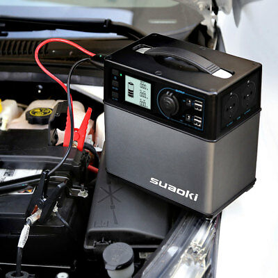 Suaoki 400Wh Portable Solar Power Supply Generator Charger Jump Starter Car 4UBS