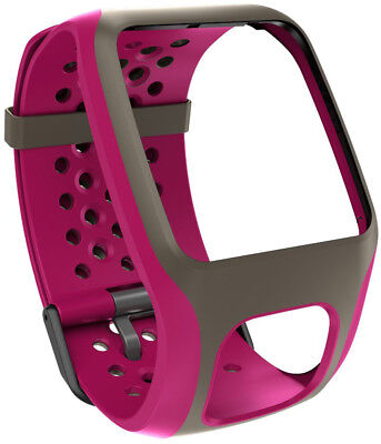 TomTom Comfort Strap for TomTom Runner/Multi-Sport Watch – Dark Pink/Black