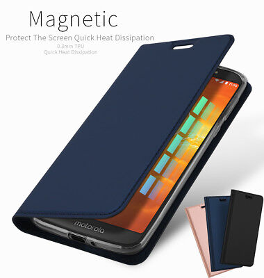 DD For Motorola Moto E5 Play XT1920 PU Leather Flip Case Wallet Magnetic Cover