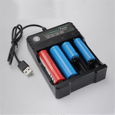 4-Slot 18650 Battery Charger Rechargeable Li-ion Batteries Charging Stand