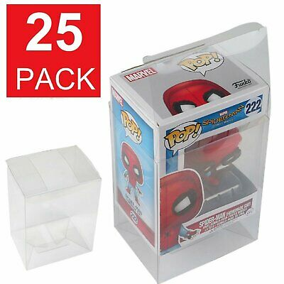 "25-Pack Premium 4"" FUNKO Pop Box Crystal Clear Protector Case Protective Cover"