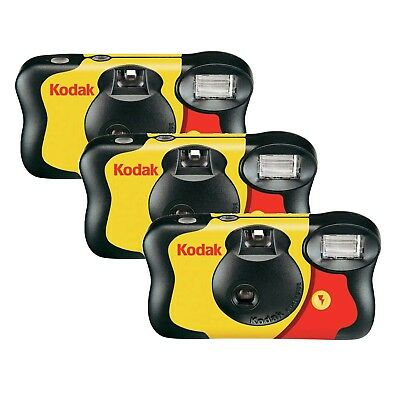 3 Pack of Kodak Fun Saver Disposable Single Use Camera with Flash 39 Pictures